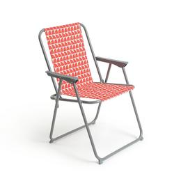 Habitat Folding Metal Picnic Chair - Geo Orange