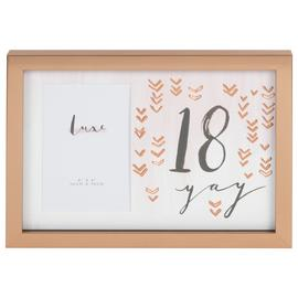 Hotchpotch Luxe 18th Birthday Photo Frame - Rose Gold