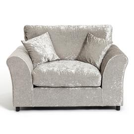 Argos Home Megan Fabric Cuddle Chair - Silver