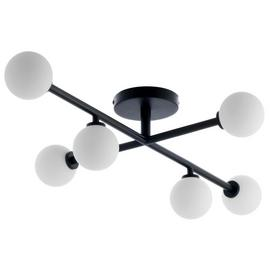 Habitat Astrid Flush to Ceiling Light - Black