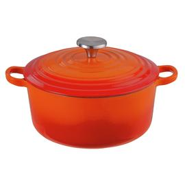 Argos Home 3.3 Litre Cast Iron Casserole Dish - Orange