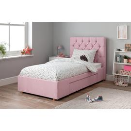Argos Home Harper Pink Single Bed Frame