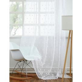 Argos Home Pom Pom Unlined Slot Top Voile Curtain Panel