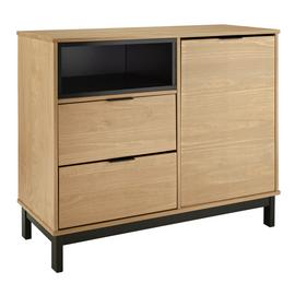 Argos Home Industrial Pine 1 Door 2 Drawer Sideboard-Natural