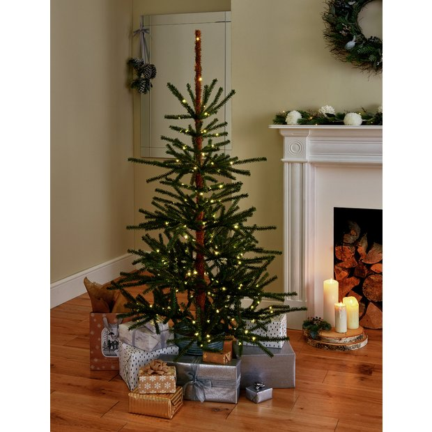 Christmas Branch Tree.Buy Argos Home 5ft Natural Pre Lit Christmas Tree Green Artificial Christmas Trees Argos