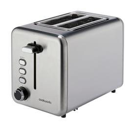 Cookworks 2 Slice Toaster - Brushed Stainless Steel