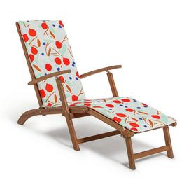 Habitat Wooden Steamer Chair - Pomegranate