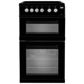 Beko KDVC563AK 50cm Double Oven Electric Cooker - Black Best Price, Cheapest Prices