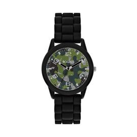 Tikkers Childrens Black Silicone Strap Watch