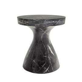 Habitat Tokki Black Marbled Cement Side Table