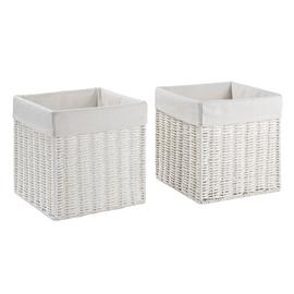 Argos Home Set of 2 Rope Storage Baskets - White