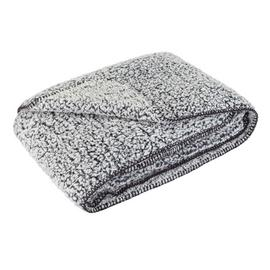 Argos Home Kanso Marled Sherpa Throw - Black