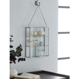 Argos Home Glass Shelving Unit - Brass