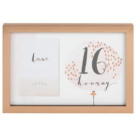 Hotchpotch Luxe 16th Birthday Photo Frame - Rose Gold