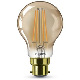 Philips LED Filament B22 8W (50W) Dimmable Light Bulb - Gold
