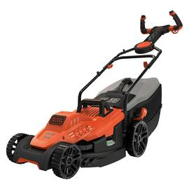 Black & Decker 38cm Corded Lawnmower with EasySteer - 1600W