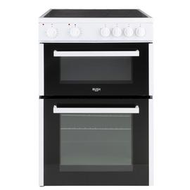 Bush B60TCWX 60cm Twin Cavity Electric Cooker - White Best Price, Cheapest Prices