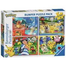 Pokemon 100 Piece Jigsaw Puzzle - Set of 4