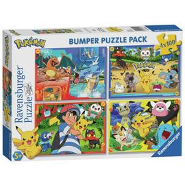 Pokemon 100 Piece Jigsaw Puzzle - Set of 4