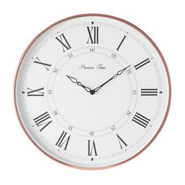 Argos Home Wall Clock - Copper & White