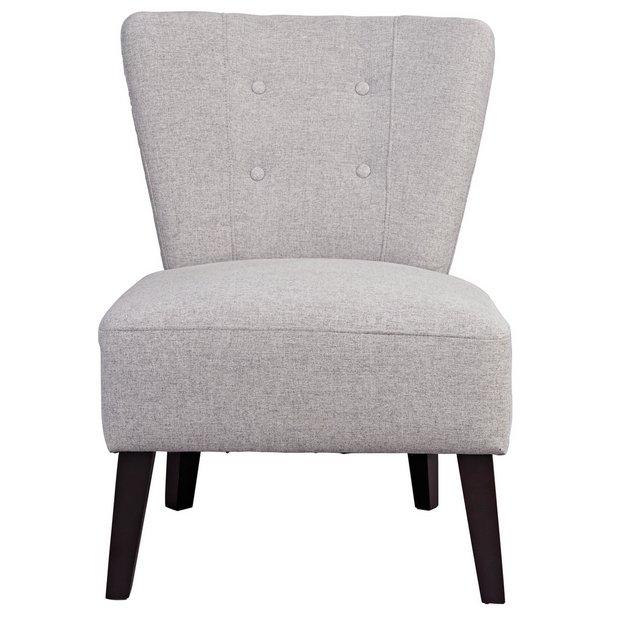 Buy Habitat Delilah Fabric Cocktail Chair - Light Grey  Armchairs