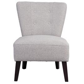 Habitat Delilah Fabric Cocktail Chair - Light Grey