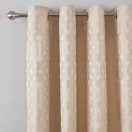 Argos Home Jacquard Geo Lined Eyelet Curtains