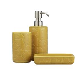 Habitat 3 piece Geo Debossed Set - Yellow