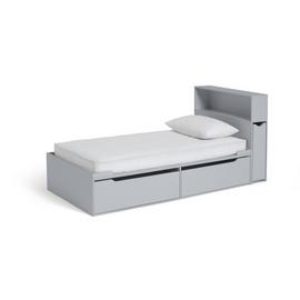 Argos Home Lloyd Cabin Bed, Storage Hboard & Mattress - Grey