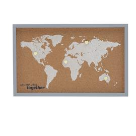 World Map with Heart Pins