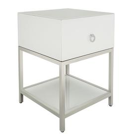 Argos Home Bianco White Glass Side Table