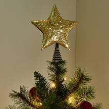 Argos Home Berry Christmas Gold Star Tree Topper