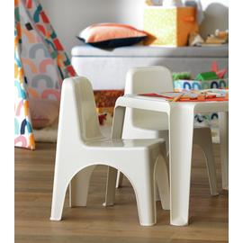 Argos Home Pair of Plastic Chairs - White