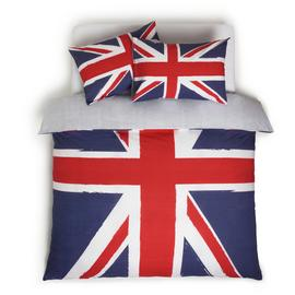 Argos Home Union Jack Reversible Red Bedding Set - Double