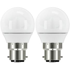 Argos Home 5W LED Mini Globe BC Light Bulb - 2 Pack