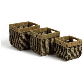 Habitat Pack of 3 Rectangular Baskets