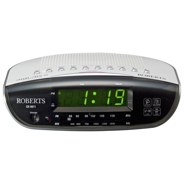digital radio alarm clocks argos buy precision radio controlled 3 colour display alarm buy. Black Bedroom Furniture Sets. Home Design Ideas