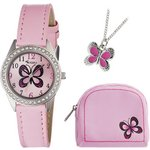 more details on Tikkers Girls' Pink Butterfly Watch Set.