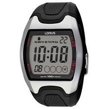 Lorus Men's Black Resin Strap Digital Sports Watch