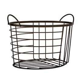 Argos Home Wire Oval Storage Basket - Black