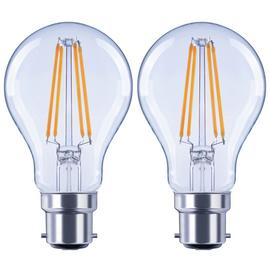 Argos Home 7W LED BC Dimmable Light Bulb - 2 Pack