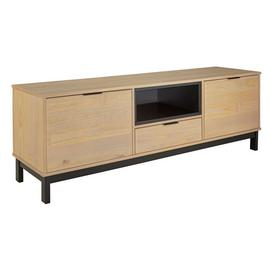 Argos Home Industrial Pine 2 Door 1 Drawer TV Unit - Natural