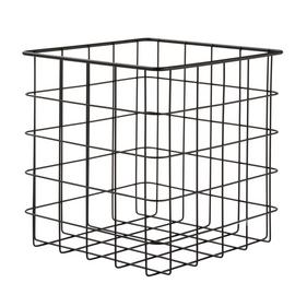Argos Home Set of 2 Wire Storage Baskets -  Black