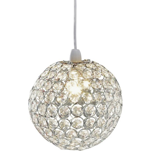 Lamp Shades At Argos: ... more details on Collection Crystal Globe Shade - Clear.,Lighting