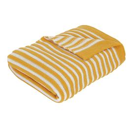 Argos Home Apartment Living Ribbed Knit Throw -Mustard