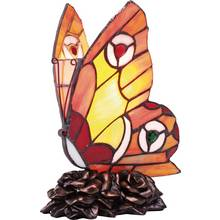 Collection Tiffany Style Butterfly Table Lamp - Multi