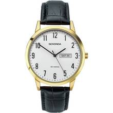 Sekonda Men's Easy Read Black Leather Strap Watch