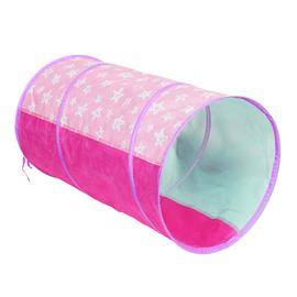 Chad Valley Pink Stars Pop Up Play Tunnel