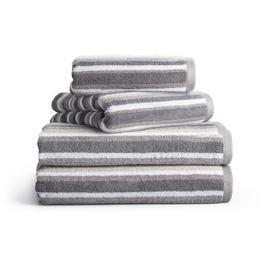 Habitat 4 Piece Stripe Towel Bale - Grey