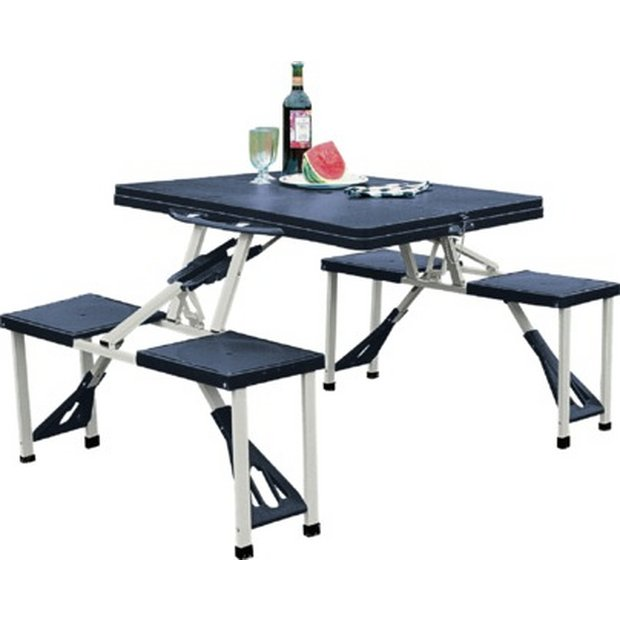 Camping equipment guide check and facilitate yourself - Camping picnic table and chairs ...